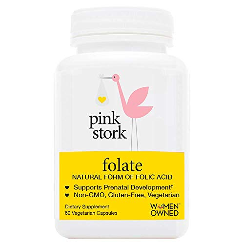 Pink Stork Folate: Superior to Synthetic Folic Acid -Doctor Recommended Before and During Pregnancy -Absorbable by All Body Types -Supports Prenatal Development and Energy -Small Pill -