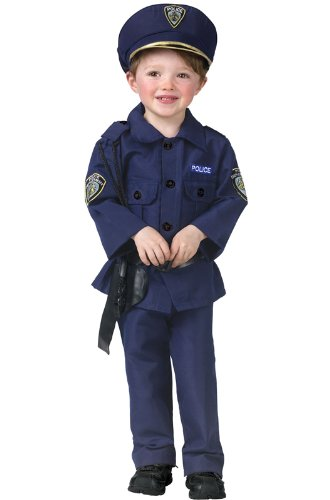 Fun World Boys Baby Complete Policeman Toddler Costume, Blue, Large(8-10) ()