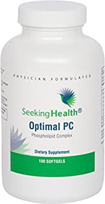 Optimal PC | 100 Softgels | Provides 800 mg of Blended Phospholipids (Phosphatidycholine, Phophatidylethalnolamine, and Phosphatidylinositol) | Non-Soy | Non-GMO | Free of Common Allergens | Seeking Health | Physician-Formulated