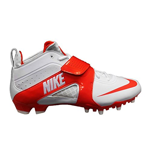 Nike Huarache 3 Lax Cleats White/Orange 2b3H6Ifpf