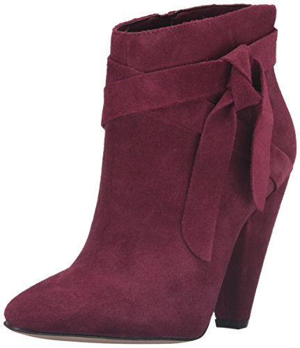 Nine West Women's Acesso Suede Ankle Bootie Dark Red Gcu3o5q3