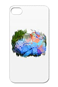 Digital Art Design Polygon Shapes Colorful Art Cool Beautiful Abstract Color New Age Modern Yellow TPU Polygons 40 Case Cover For Iphone 4