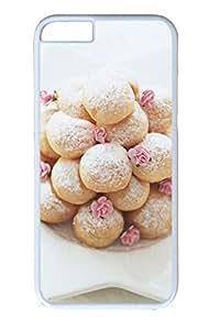 iphone 6 plus 5.5inch Case Rose Cake Dessert PC Hard Plastic Case for iphone 6 plus 5.5inch Whtie
