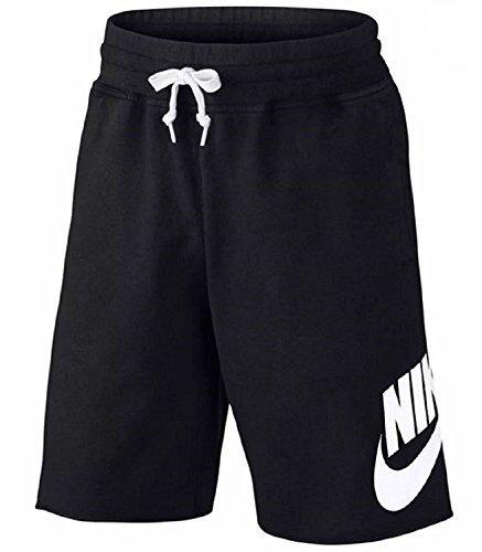 (NIKE Men's AW77 Sportswear Alumni Black Shorts (XL))