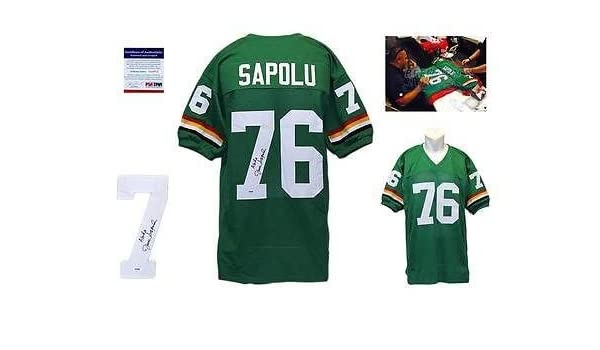 3d360fa6e Autographed Jesse Sapolu Jersey - Hawaii Rainbow Warriors ITP - PSA/DNA  Certified - Autographed College Jerseys at Amazon's Sports Collectibles  Store