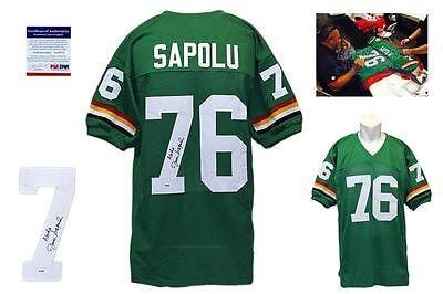 d6bef855f Image Unavailable. Image not available for. Color: Autographed Jesse Sapolu  Jersey ...