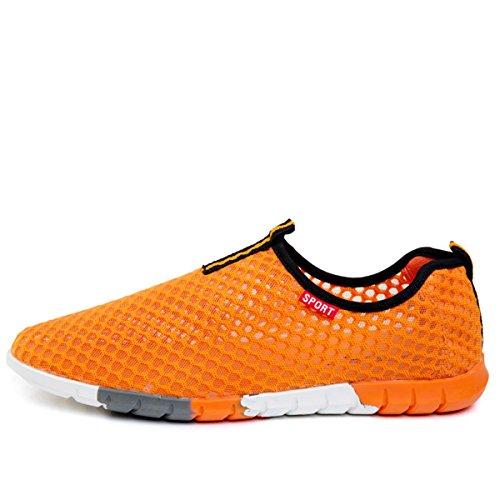 Slip Orange Shoes VECJUNIA Mans Water On Mesh fqwEUxFEg