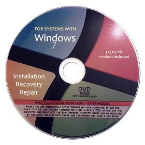Windows 7 ANY Version 64 Bit Operating System Repair, Recovery, Restore, Re Install, Reinstall, Fix, Boot Disk, DVD, Home Premium, Professional, or Ultimate, (DVD-ROM)DVD (Hp For Boot Laptop Disk)