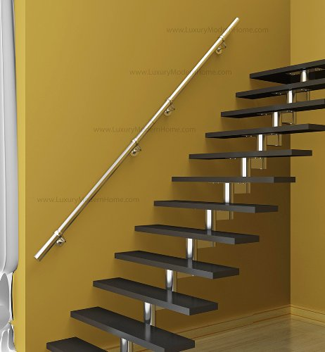 sshr1 Brushed Satin Stainless Steel 304 Handrail Connectable - 1 meter 39'' inches Railing Guardrail Tube Baluster Stair Staircase by www.LuxuryModernHome.com (Image #3)