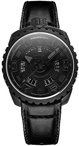 [ボンバーグ] メンズ 腕時計 自動巻き 懐中時計 ポケットウォッチ ボルト68 ブラック マット BOLT-68 BS45APBA.045-5.3 革ベルト 黒 ブラック