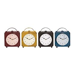 Plutus Brands The Delightful Metal Desk Clock 4 Assorted