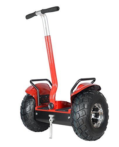 Segway Like Smart Self Balance Scooter Personal Transporter 19 inch All Terrain Tires (Red)