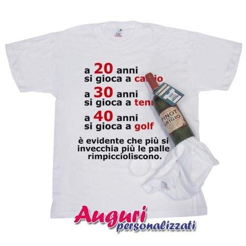 T Shirt In Bottiglia Compleanno 20 30 40 Anni Amazon It Giochi E
