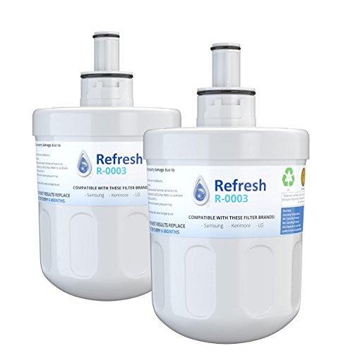 Refresh Replacement for Samsung Aqua-Pure Plus DA29-00003G, DA29-00003A, DA2900002B, DA2900003, DA2900003F, DA290002, HAFCU1, HAFIN2 and Waterdrop WD-DA-29-00003G Refrigerator Water Filter (2 Pack)