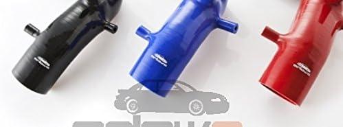 R/éducteur tuyau coud/é /Ø 76/mm sur 60/mm Silicone R/éducteur de 45//° Bleu