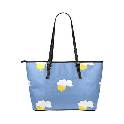 Väska axeldyna barnliknande rolig tecknad söt sol läder handväskor väska orsaksala handväskor dragkedja axel organiserare för dam flickor kvinnor resor crossbody väska