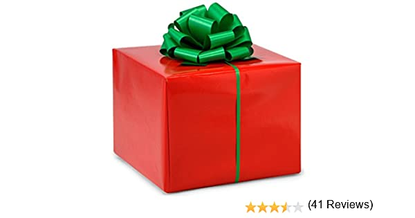 Amazon.com: New Premium Bright Red Gift Wrap Wrapping Paper 16 ...