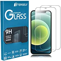 TERSELY [2 Pack] Screen Protector for iPhone 12 Mini, 9H Hardness Case Friendly Tempered Glass Screen Protectors...