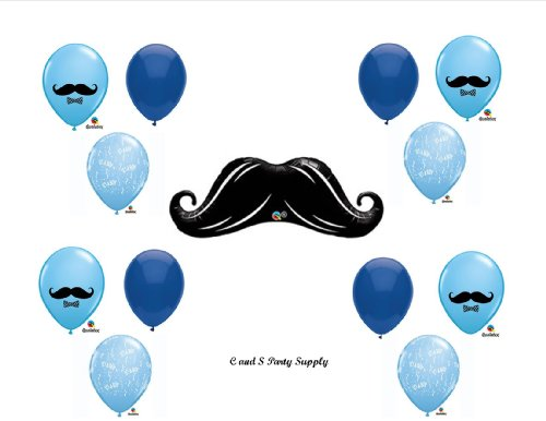 MUSTACHE Balloons Decorations Supplies Anagram product image