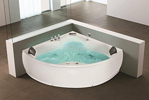 Whirlpool indoor  Whirlpool Eck Bathtub Monaco With 12 Massage Nozzles + Underwater ...