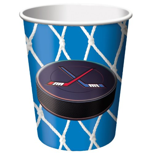 Hockey 9 Oz. Cups - 8 Per Unit