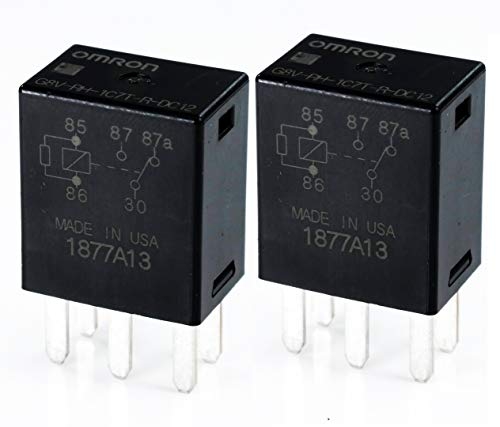 - OMRON Electronic Components - G8V-RH-1C7T-R-DC12 (2 Pieces)- Micro Automotive Relay, SPDT, 12VDC, 20A