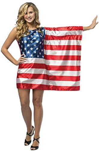 [8eighteen USA Flag Dress Patriotic Freedom Teen Costume] (Usa Flag Dress Teen Costumes)