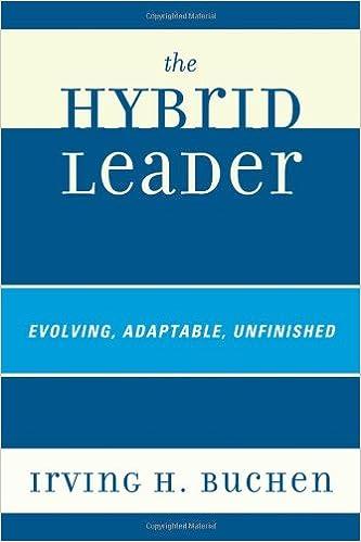 Téléchargement gratuit de livres EpubThe Hybrid Leader 1607096161 en français PDF RTF DJVU by Irving H. Buchen