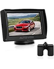 AUTO-VOX M1 Backup Camera Kit, 4.3'' LCD Rear View Monitor, One Wire Installation Rear View Camera kit for Cars, Pickups, Trailers