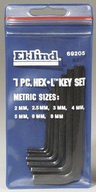 Eklind 20811 Standard 8pc Fold-Up Hex Key Set 0.05