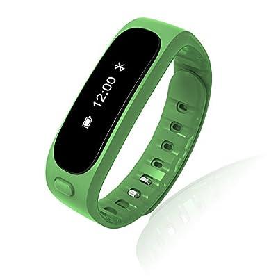 Aottom Fitness Activity Tracker Bluetooth 4.0 Smartband Sport Bracelet Pedometer Wristband For IOS Samsung Android(Green)