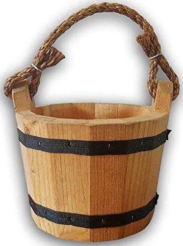 Country Wishing Well - Wooden Bucket 8
