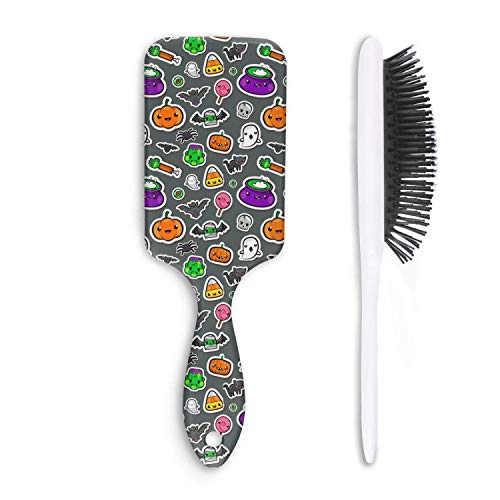 Wet And Dry Cute halloween background Beauty Professional Detangling Comb Hair Brush For Women And Men Grooming Styling & Shaping ()