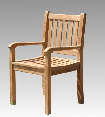 Wohnpalast Beaufort - Juego de 6 sillas de jardín (Madera de Teca): Amazon.es: Jardín