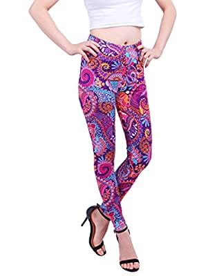 HDE Women's Plus Size Leggings Ultra Soft Fashion Design Stretch Pants