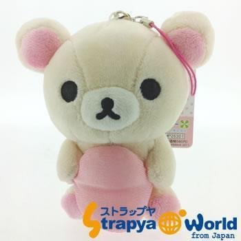 San-X Rilakkuma Plush Doll Cell Phone Charm (Korilakkuma and Cushion)