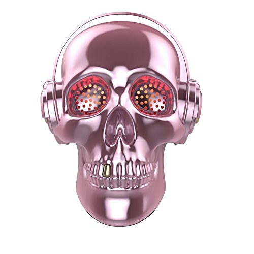 [Updated Version] Skull Wireless Speaker, TOPROAD LED Wireless Super Bass Stereo Sound Cool Skull Artwork Speaker with Wonderful Eyes Light for Home Party/Office/Business/Bedroom/Outdoor (Pink)]()