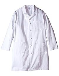 """Worklon 437XL Sanforized Cotton Unisex Lab Coat with Cloth Knot Button, 39-1/2"""" Length, X-Large, White"""