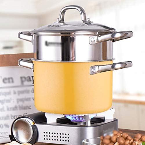 CJTMY Vapeur épaissie Petit Bateau à Vapeur ménagers en Acier Inoxydable à Vapeur Cuisinière à Induction Cuisinière à gaz