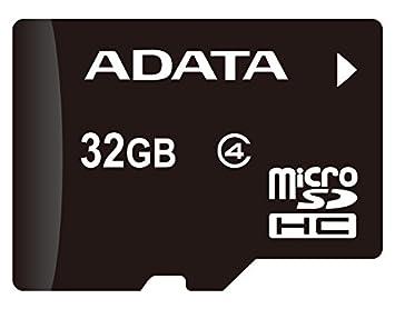 ADATA AUSDH32GCL4-RA1 MicroSDHC 32GB Class 4 + SD Adapter, Black