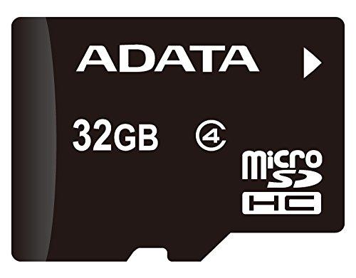 ADATA AUSDH32GCL4-RA1 MicroSDHC 32GB Class 4 + SD Adapter, Black]()