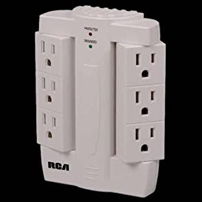 Six Outlet Swivel Surge Strip-2pack