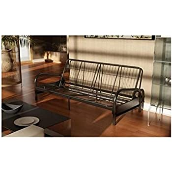 dhp vermont metal futon frame classic design full sized   black amazon    dhp vermont metal futon frame classic design full      rh   amazon
