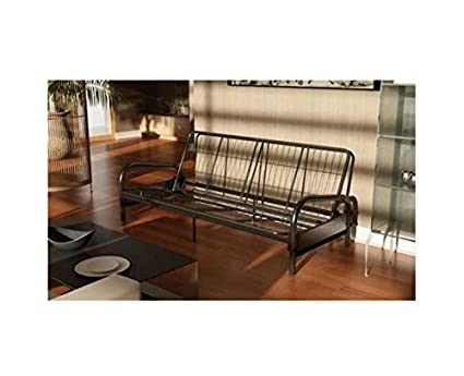 Medium image of dhp vermont metal futon frame classic design full sized   black