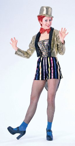 [Forum The Rocky Horror Picture Show Columbia Complete Costume, Gold, XL Fits up to Size 22] (Horror Halloween Costumes For Women)