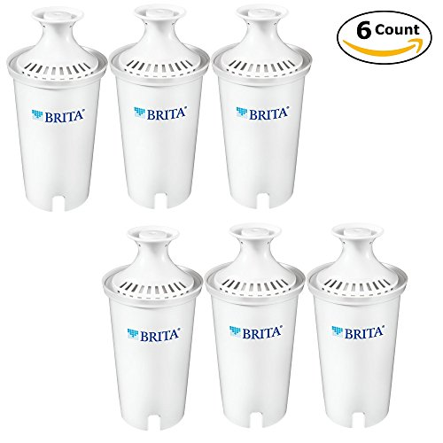 Brita Standard Replacement Filters for Pitchers and Dispensers - BPA Free - 6 Count by Brita