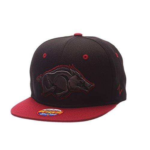 Zephyr NCAA Arkansas Razorbacks Children Boys Youth Z11 Phantom Snapback Hat, Adjustable Size, Black/Team - Razorback Cap