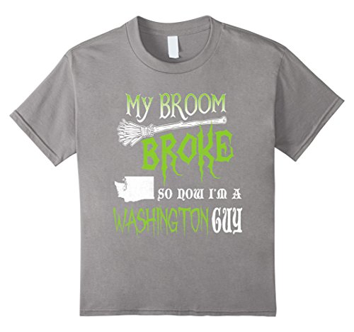 Kids My Broom Broke So Now Im A Washington Guy Halloween shirts 8 Slate (Popular Halloween Costumes 2017 For Guys)