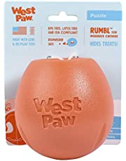 West Paw Design Zogoflex Rumbl Treat-Dispensing Dog Toy – Interactive Slow-Feeder Chew Toys for Dogs – Dog Toy for Moderate Chewers, Fetch, Catch – Holds Kibble, Treats