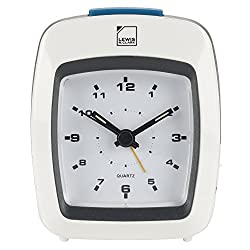 Lewis N. Clark Analog Alarm Clock, White, One Size